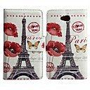 Flower with Tower Pattern  PU Leather Full Body Case for LG L90
