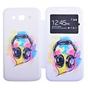 Multicolour Headset Pattern Full Body Case with Window for Samsung Galaxy Grand 2 G7106