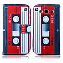 Red-white Tape Pattern PU Leather Full Body Case with Stand for Samsung S3 I9300