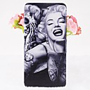 Beauty Marilyn Pattern Leather Full Body Cases with Stand for iPhone 6