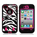 Assembly Of Zebra-Style Mobile Phone Cover For IPHONE4/4S
