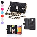 Elonbo Diamond Grain Diamond Flower Leather Wallet Full Body Case for Samsung Galaxy Note 3 N9000 (Assorted Colors)