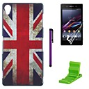 British Flag Pattern PC Hard with Screen Protector,Stylus and Stand for Sony Z1 L39H