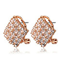 Roxi Fashion Honeycomb Shape Austrian Crystal Champagne Zircon Alloy Stud Earring(1 Pair)