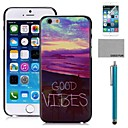 COCO FUN Beautiful Beach Pattern PC Hard Back Case Cover with Screen Protecter, Stand and Stylus for iPhone 6 6G 4.7