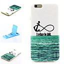 Curve Eight Anchor Pattern Silicone Soft Cover and Mini Diaplay Stand for iPhone 6