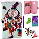 Dream Catcher Pattern PU Leather Case with Screen Protector and Stylus for Samsung Galaxy Note 4