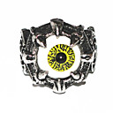 Halloween Grotesque Gothic Silver Alloy Mens Statement Eye Rings(1 Pc)