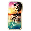 Ocean Words Pattern Plastic Hard Mobile Phone Case for Samsung S4 I9500