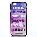 Motto Pattern Plastic Hard Cover for iPhone 6