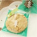 10 Pieces The Green Christmas Tree Gift Bag