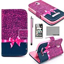 COCO FUN Purple Leopard Pattern PU Leather Case with Screen Protector, Stylus and Stand for HTC Desire 500