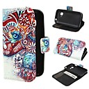 Two Colorized Elephants Wallet PU Leather Case Cover with Stand and Card Slot for Samsung Galaxy Young 2 SM-G130