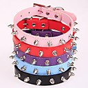 Bullet PU Luminous Safety LED Flash Collar for Dogs(Assorted Size,Assorted Color)