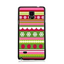 Elonbo Snow Christmas Stripe Plastic Hard Back Case Cover for Samsung Galaxy Note 4
