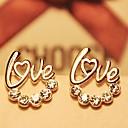 Fashion LOVE Diamond Stud Earrings