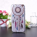 National Style Feather Pattern Transparent TPU Soft Case for iPhone 6
