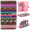 Tribal Tattoo Pattern PU Leather Full Body Protective Case with Stand and Money Holder  for Samsung Note4