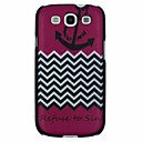 Anchor Waved Stripe Pattern PC Hard Back Cover Case for Samsung S3 I9300