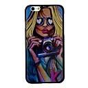 The Sexy Girl with Glasses Holding A Camera Pattern PC Hard Back Cover Case for iPhone 6 Plus