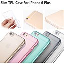 Hot Selling Ultra Thin Style Soft Flexible Transparent  TPU Case for iPhone 6 Plus 5.5 - (Assorted Colors)