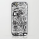 Black And White Coffee Pattern hard Case for iPhone 6