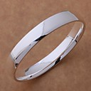 New Fashion Jewelry Womens 925 Sterling Silver Plated Charm Bangle BB-089