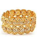 18K Chunky Gold Plated Bracelet Austrian SWA Rhinestone Crystal Jewelry Gift For Women