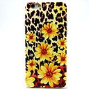 Leopard Chrysanthemum Pattern TPU Soft Cover for iPhone 6 Plus