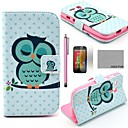 COCO FUN Sleeping Owl Pattern PU Leather Full Body Case with Screen Protector, Stylus and Stand for Motorala Moto G