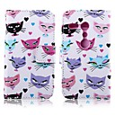 Cat and Beard Pattern PU Leather Full Body Cover with Card Slot for Motorola Moto G