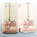 Pink Bicycle Pattern Zircon Inlaid Flip Folio Case for Samsung 8552