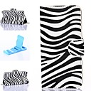 Attractive Zebra Style Pattern PU Leather Full Body Cover with Stand for iPhone 6