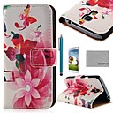 COCO FUN Music Butterfly Silk Pattern PU Leather Case with Film, Stylus and Stand for Samsung Galaxy S4 I9500