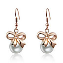 Roxi Fashion White Pearl Austrian Crystal Rose-gold Champagne Zircon Alloy Drop Earring(1 Pair)