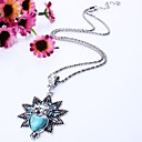 Westerm Exaggerated simple fashion(Love the owl)Turquoise(Diamond necklace)Clavicular chain