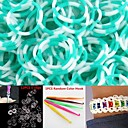 600PCS Lake BlueWhite 8-Segment DIY Twistz Silicone Rubber Bands for Rainbow Loom Bracelets with HookS-clips