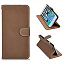 Frosted Pattern PU Leather Full Body Case with Stand and Card Slot for iPhone 6(Assorted Colors)