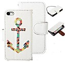 Color Anchor Pattern Full Body Case with Stand for iPhone 4/4S