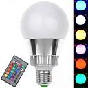 E27 7W 350-400LM 16 Color RGB LED Bulb Light with Remote Control (85-265V)