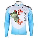 PaladinSport Mens  Summer and Autumn Style 100% Polyester  White Long Sleeved Cycling Jersey