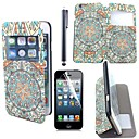 Retro Pattern PU Leather with Plastic  Display Window with Touch Pen and Protective Film for iPhone 6