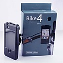 Inductive Touch IP×4 Water Risistant Bicycle Handlebar Mount Holder with Body Case for iPhone 4/4S