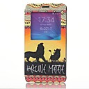 Lion King Pattern PU Leather Cover with View Window for Samsung Galaxy Note 4