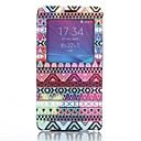 Tribal Pattern PU Leather Cover with View Window for Samsung Galaxy Note 4