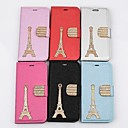Eiffel Tower Pattern PU Leather Cover with Card Slot Cover for iPhone 6  (Assorted Colors)