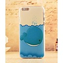 Cartoon Blue Whale Style Plastic Hard Back Cover for iPhone 6