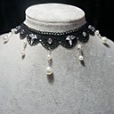 Handmade Elegant Classical White Pearl With Crystal Lolita Necklace