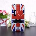 I Love Mustache Pattern Transparent TPU Soft Case for iPhone 6