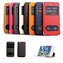 Lattice Paatern PU Leather Full Body Case with Two Front Windows for iPhone 6